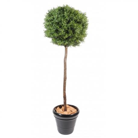 Eucalyptus artificiel boule sur tige H110cm - Ø45cm