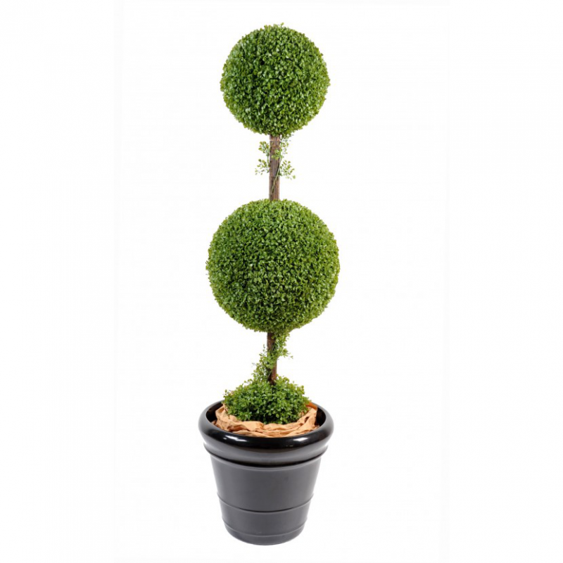 buis artificiel double boule plantes artificielles viva verde. Black Bedroom Furniture Sets. Home Design Ideas