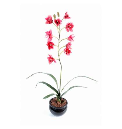 Orchidée artificielle Cymidium 80cm