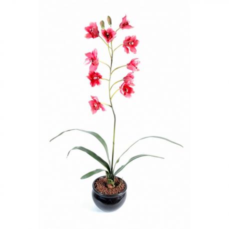 Orchidée artificielle Cymidium 80cm