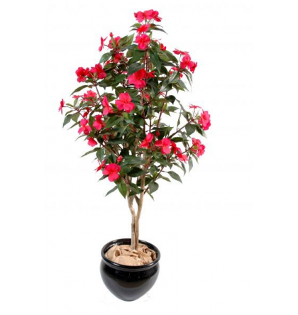Impatiens arbre artificiel 110cm