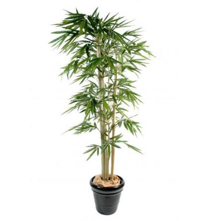 Bambou artificiel 3 troncs 270cm