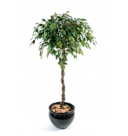 Ficus artificiel boule Natasja 140cm Ø60cm