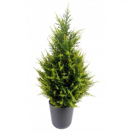 Cyprès artificiel Juniperus vert 2 tons 65 à 160cm